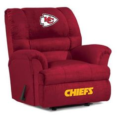 Use this Exclusive coupon code: PINFIVE to receive an additional 5% off the Kansas City Chiefs Big Daddy Recliner at SportsFansPlus.com Ohio State University, Ohio State Buckeyes, Montreal Canadiens, Recliner With Ottoman, Leather Recliner, Nfl, Nebraska Cornhuskers, Big Daddy, Atlanta Falcons