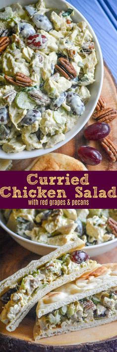 We're always on the hunt for the next great chicken salad recipe. This Curry Chicken Salad with Red Grapes & Pecans is a tasty new spin on the traditional lunchtime sandwich staple. A creamy curry dressing, slightly sweet, a bit of crunch, and chunks of rotisserie chicken combine into an easy, low carb meal.