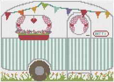 Jacqui P Crafts - Vintage Caravan Cross Stitch PDF, £5.00 (http://www.jacquip.co.uk/vintage-caravan-cross-stitch-pdf/)