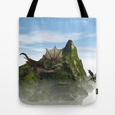 Flying #dragon #Tote #Bag by nicky2342 - $22.00