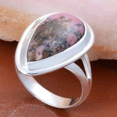 925 STERLING SILVER DESIGNER RHODONITE FANCY RING 5.82g DJR4999 #Handmade #Ring