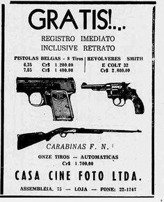 Anúncio da Casa Cine Foto promovendo armas e carabinas no começo dos anos 50