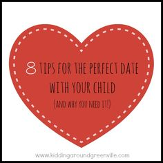 Why not show your kid that you love them by scheduling a date with them? What a lovely post!
