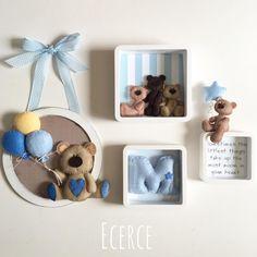 "457 curtidas, 14 comentários - @ecerce no Instagram: "" #keçe #felt #feltro #fieltro #kapısüsü #keçekapısüsü #bebekodası #babyshower #pano #bebekpanosu…"" Felt Kids, Felt Baby, Hobbies And Crafts, Diy And Crafts, Teddy Bear Nursery, Crochet Wall Art, Felt Hair Accessories, Felt Crafts Patterns, Felt Pictures"