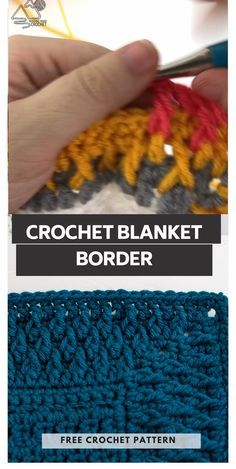 Crochet Blanket Border, Crochet Border Patterns, Crochet Boarders, Crochet Stitches Free, Crochet Stitches For Beginners, Crochet Basics, Knitting For Beginners, Crochet Edgings, C2c Crochet