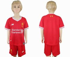2017-2018 Liverpool kid red soccer jersey home