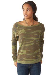 Dash Printed Eco-Fleece Sweatshirt #WearAlternative