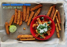 The Gospel of Curry Garbanzo Fries w/Cilantro Lime Yogurt – Jewhungry Vegetarian Cooking, Vegetarian Recipes, Cilantro Recipes, Raw Cheesecake, Kosher Recipes, A Food, Food Processor Recipes, Fries