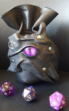 These Dice Bags are Handmade From Beautiful Extremely Soft Purple and Black…