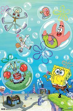 Spongebob - Bubbles Size: 22.375 inch x 34 inch