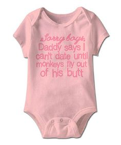 Look what I found on #zulily! Light Pink 'Sorry Boys' Bodysuit - Infant by Urs Truly #zulilyfinds