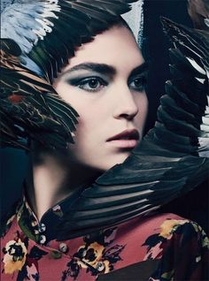 Chic Gothic Glam by Craig McDean for Vogue Italia