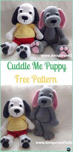 Crochet Cuddle Me Puppy Free Pattern - Crochet Amigurumi Puppy Dog Stuffed Toy Patterns