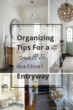Home Organizing Ideas   Organizing A Narrow Entry