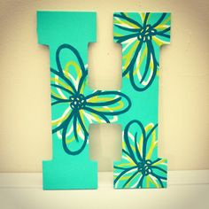 Large Flowered Hand Painted Wooden Letter 'H' from ShortsNBowsNSuch. Saved to ShortsNBowsNSuch. Wooden Greek Letters, Painted Initials, Painting Wooden Letters, Painted Letters, Hand Painted, Diy Arts And Crafts, Diy Crafts, Letters For Kids, Crafty Craft