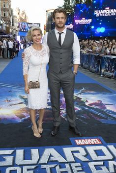 "Chris Hemsworth & Elsa Pataky at the London Premiere of Marvel's ""Guardians of the Galaxy"""