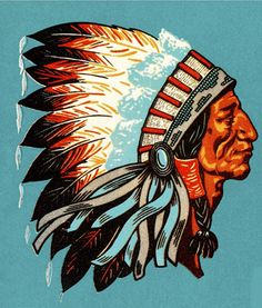 American Indian Chief Cross Stitch Pattern***L@@K***~~ I SEND WORLD-WIDE ~~Free