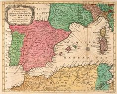 SEALE, R.W. An Accurate MAP of all the COUNTRIES bordering on the Western Parts of the MEDITERRANEAN SEA. #europe