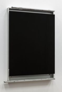 Pedro Cabrita Reis | Black glass and aluminum 2014
