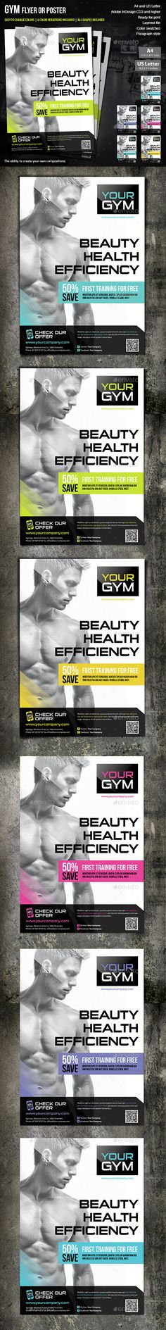 Fitness Flyer Template - Tap the pin if you love super heroes too