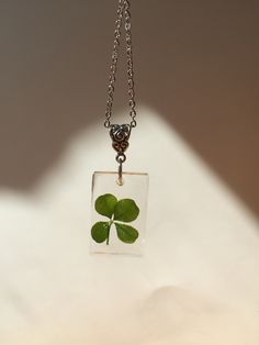 Etsy Handmade, Handmade Gifts, Handmade Items, Handmade Jewelry, Resin Jewelry, Jewelry Shop, Four Leaf Clover Necklace, Stainless Steel Chain, Gifts For Him