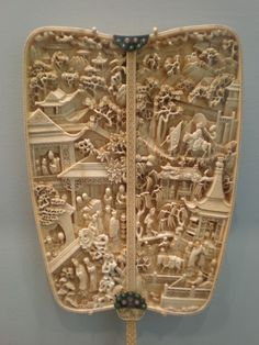 Ivory fan with scenes from romance of the western chamber.China  Asian Art Museum of San Fo.