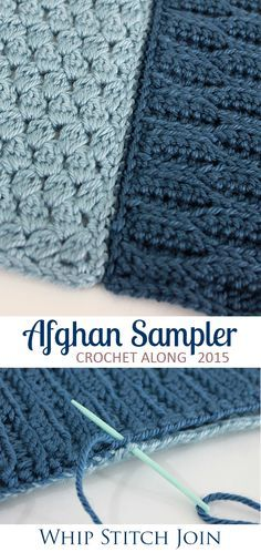 Join crochet squares with a back-loop-only whip stitch | Crochet Along Afghan Sampler for 2015 from The Inspired Wren