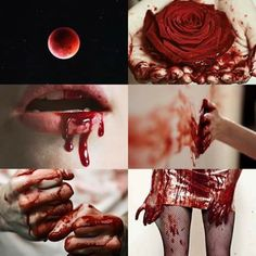 Red.  ---