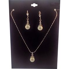 Silver-Tone Crystal Accent Pearl Necklace and Earrings Set   Walmart