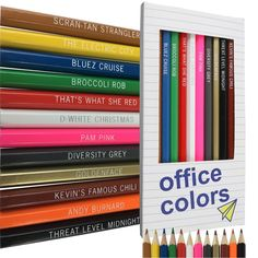 Office colored pencils full of puns! #theoffice #officememes #theofficefunny #theofficegifts