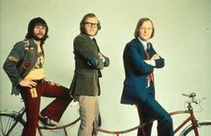 The Goodies! Graeme Garden, Bill Oddie, and Tim Brooke-Taylor are the only challengers to the British Kings of Comedy, Monty Python.
