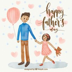 Great father's day background of man with his daughter Free Vector Daddy Daughter Quotes, Daddy Day, Mom Day, Happy Fathers Day Images, Happy Father Day Quotes, Fathers Day Poster, Family World, Great Father, Good Notes