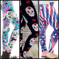 Leggings, skulls and Patriotism ❤️ only from Buskins