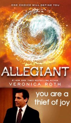 One of the things I learned from Allegiant is that Veronica Roth does not care about my feelings