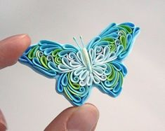 Wearable art by LiskaFlower Polymer Clay Creations, Polymer Clay Crafts, Handmade Polymer Clay, Polymer Clay Jewelry, Paper Quilling Cards, Quilling Art, Clay Art Projects, Ribbon Art, Clay Design