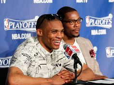 russell westbrook kevin kd durant okc thunder press