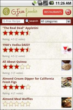 Gluten-Free app for your droid or iphone! ( a favourite repin of www.glutenfreedesserts.info - find gluten free desserts )