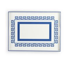 Rectangle Greek Key Lacquer Tray