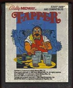 Tapper video game cartridge for Atari 2600
