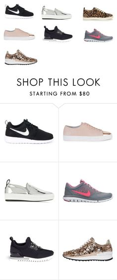"""""""SNEAKERS"""" by giovana-stecanella on Polyvore featuring moda, NIKE, Axel Arigato, McQ by Alexander McQueen, Tory Burch, Casadei e Christian Louboutin"""