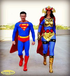 Superman and Big Barda (by DJ Spider Cosplay and Costuming) #DC #Comics #2008