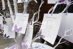 tableau-matrimonio-farfalle - Butterfly themed Wedding by Diana Da Ros event planner