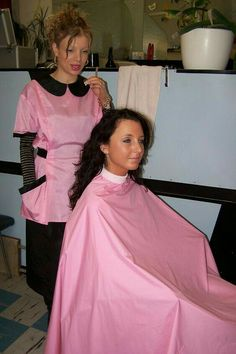 Whenever i go to the salon my wife always asks the hairdresser to put me by the window in the pink cape
