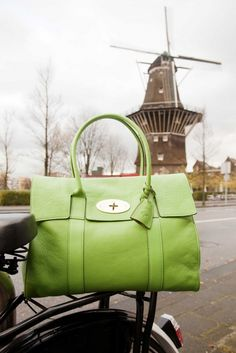 Mulberry bag. and that windmill in the back.