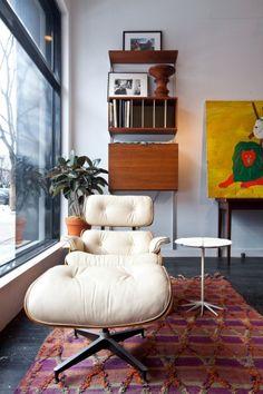 eames chair at bright lyons, brooklyn