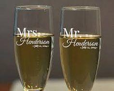 Gold Bubbles Champagne Toasting Flutes Set by MaryElizabethArts