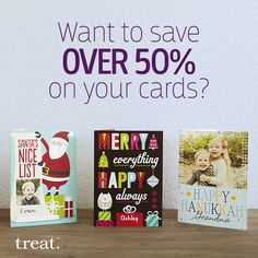 Get a total savings of over 50% when you shop smart. Pick up an 18-card pack from the Treat Card Club and use code SAVECLUB to receive an additional 15% off at checkout. Offer ends 11/16.