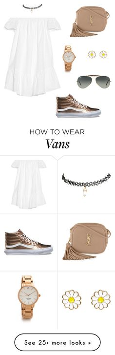 """Sin título #224"" by lia-zenvela on Polyvore featuring Elizabeth and James, Vans, Yves Saint Laurent, Wet Seal, Ray-Ban, Monsoon and Kate Spade"