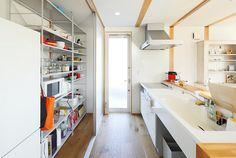 Style & Simplicity in a Japanese Countryside Prefab Home Japanese Countryside, Prefab Homes, Wood Cabinets, Home And Living, Building A House, Kitchen Design, Sweet Home, House Design, Architecture