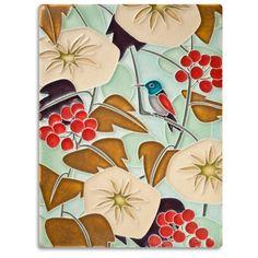 6x8 Hummingbird - Light Blue | Motawi Tileworks | Motawi Tileworks